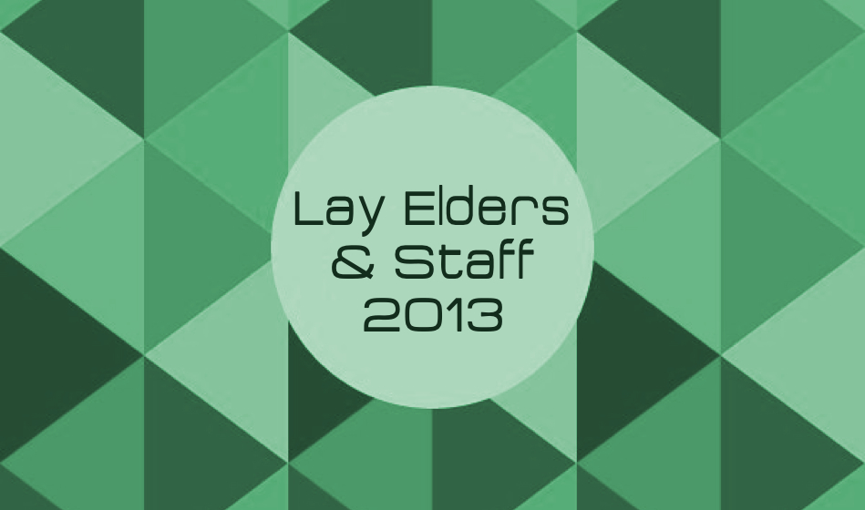 Lay Elders & Staff 2013