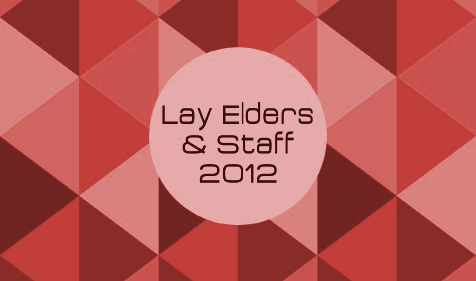 Lay Elders & Staff 2012